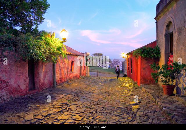 'De los suspiros' street. Colonia del sacramento, uruguay, south america. Fall, 2009. - Stock Image
