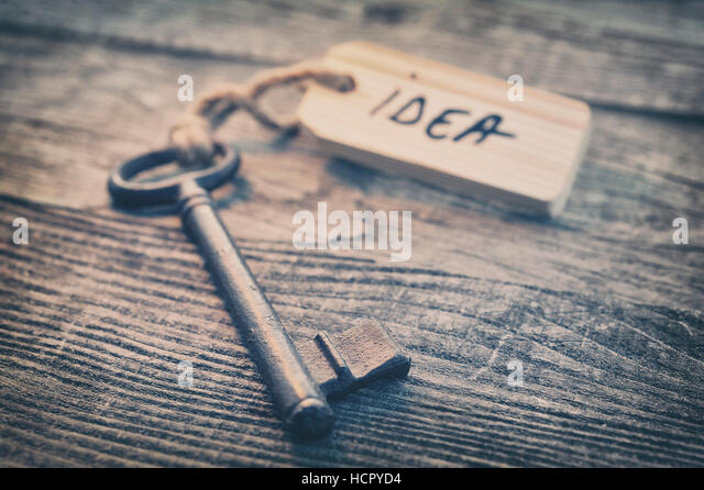 Key and label. Idea concept - Stock Image
