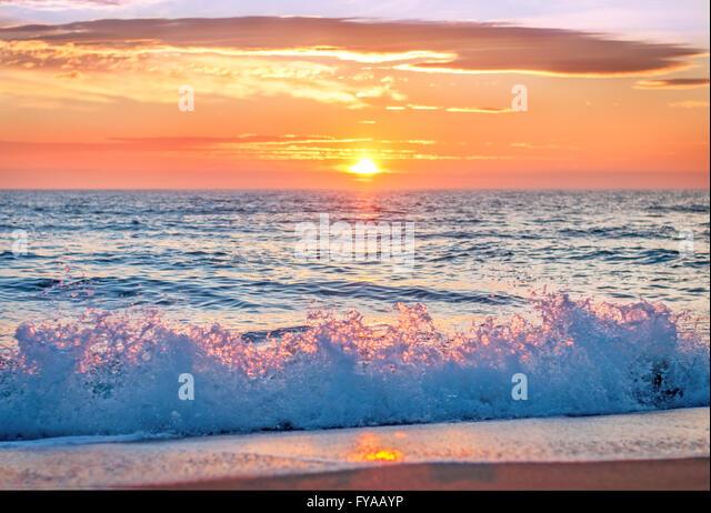 Sunrise at Punta Cana, Dominican Republic - Stock Image