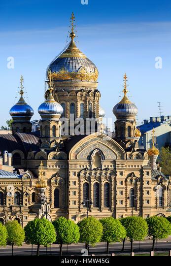 the english embankment, St Petersburg, Russia - Stock Image