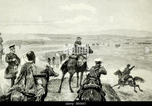 Afghanistan. British Russian conflict. March 1885. Antique illustration. 1885. - Stock Image