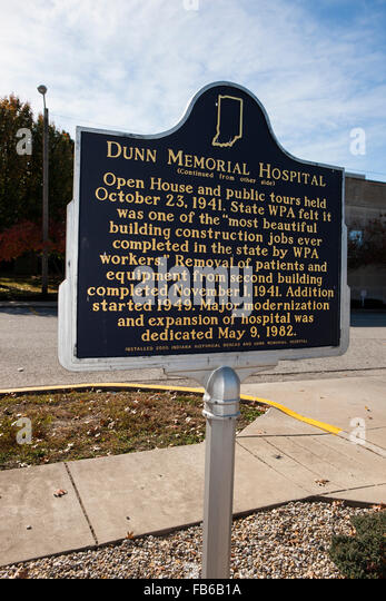 DUNN MEMORIAL HOSPITAL  (Continued from other side)  Open House and public tours held October 23, 1941. State WPA - Stock Image