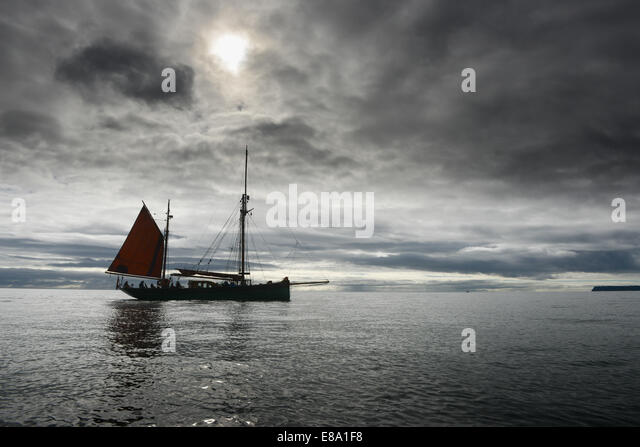 The Provident a former Brixham sailing trawler convert to carry passengers. - Stock Image