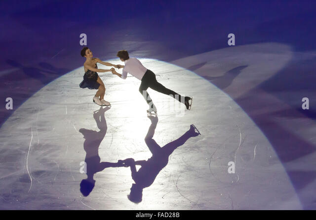 Meryl Davis e Charlie White free dance skating champions - Stock Image