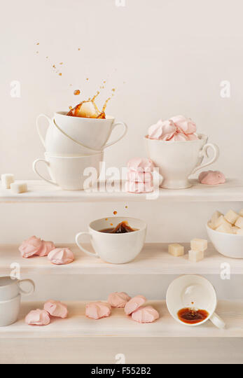 Coffee splash collection - Stock Image