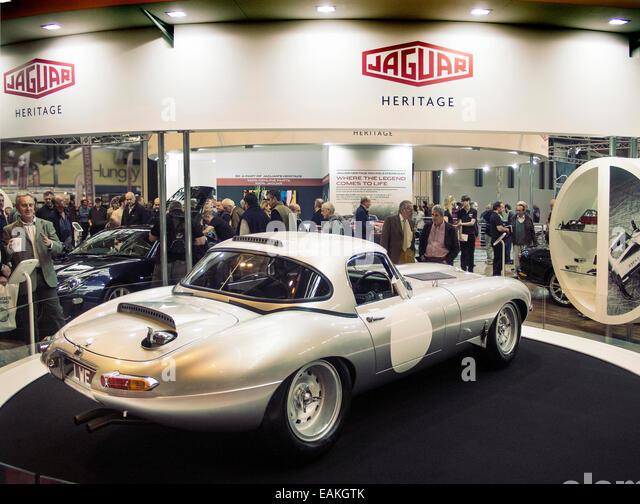 Jaguar Lightweight E Type recreation at Classic car show at the NEC Birmingham UK - Stock Image