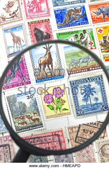 Stamps, Belgian Congo. - Stock-Bilder