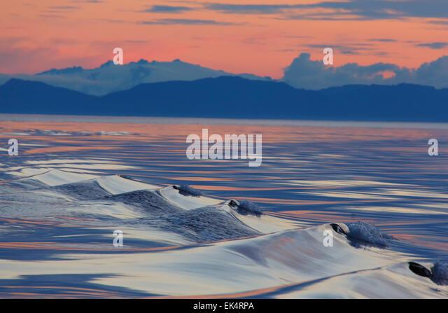 Sunset, Cape Fanshaw, Tongass National Forest, Alaska. - Stock Image