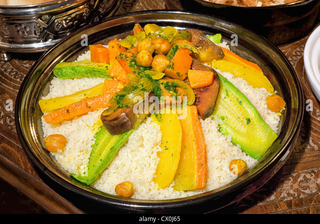 Moroccan couscous meal. - Stock Image