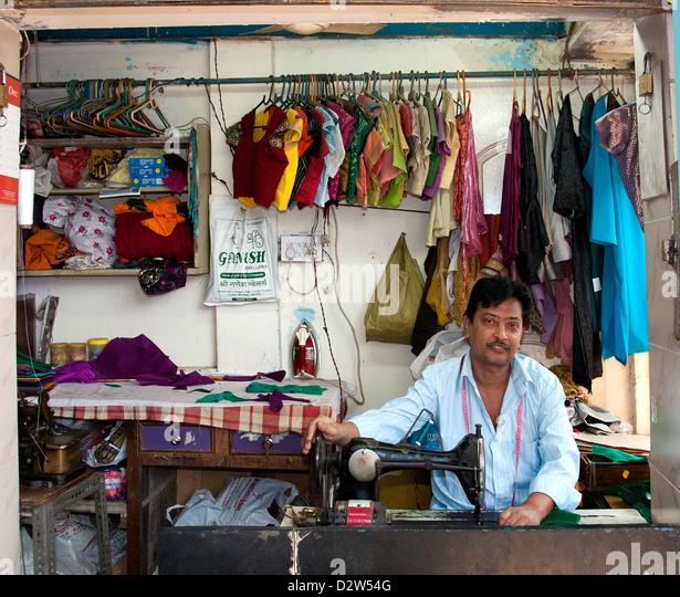 Mumbai ( Bombay ) Slum near Colaba and World Trade Center India - Stock Image