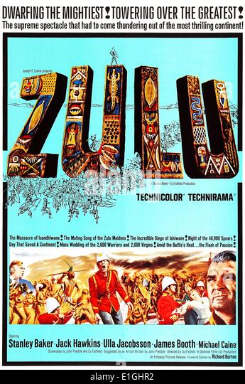 Zulu (1964) British historical war film directed by Cy Endfield. - Stock Image