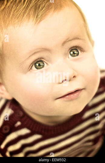 Innocent cute baby boy - Stock Image