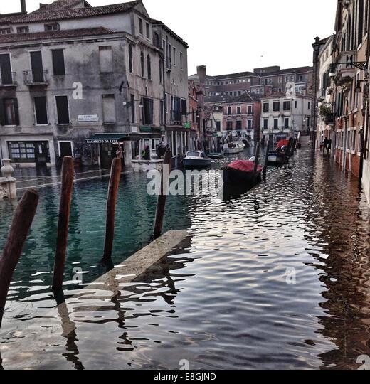 Italy, Venice, Venezia Flooding - Stock Image