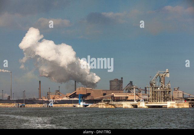 Corus Steel Industry, River Tees,Teesside, England - Stock-Bilder
