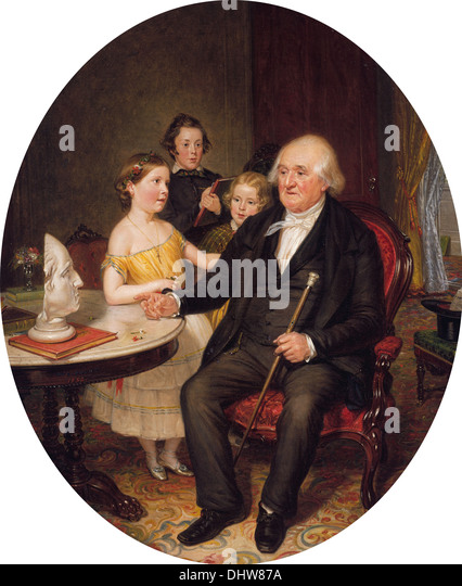 Great-Grand-Father's Tale of the Revolution—A Portrait of Reverend Zachariah Greene - by William Sidney Mount, - Stock Image
