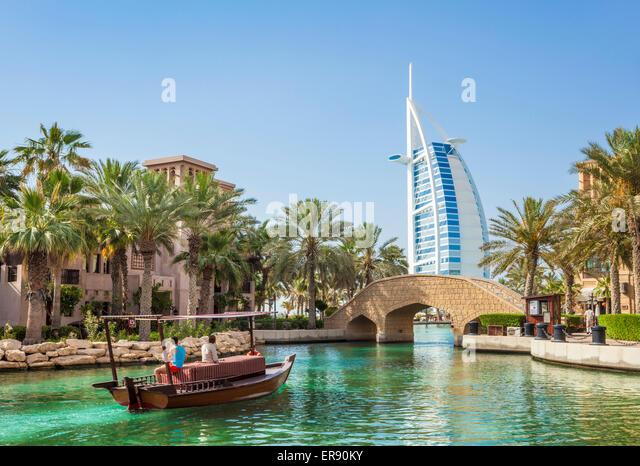 Dubai Burj al Arab hotel Jumeirah Arabian Resort of Dubai, United Arab Emirates, UAE - Stock Image
