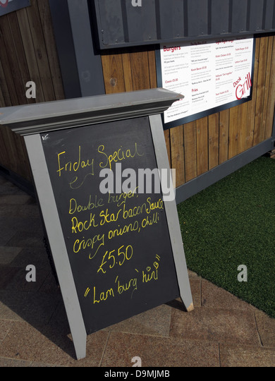 Snack bar at BBC Breakfast studio at  Quay House Salford Media City UK Manchester UK - Stock Image
