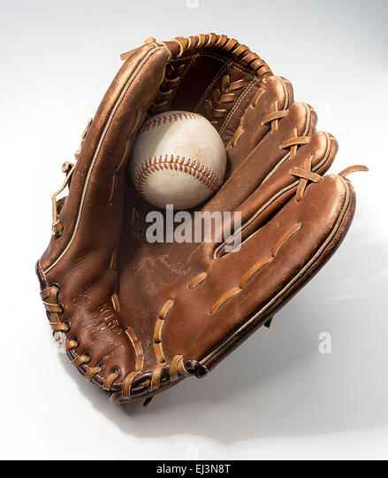 baseball glove - Stock Image