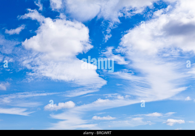 A mixed cloud formation over the Yorkshire Dales National Park - Stock Image
