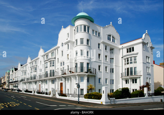 grand parade on the seafront at plymouth in devon, uk - Stock Image