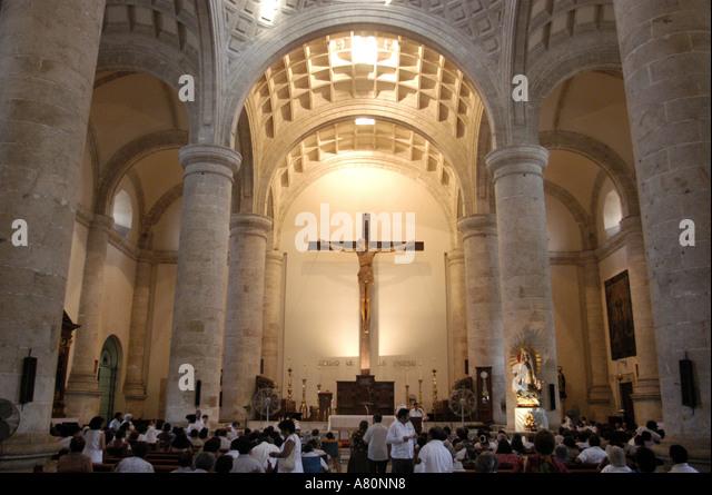Merida Yucatan Mexico Cathedral - Stock Image
