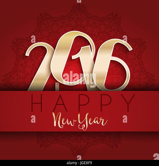 Happy New year typography design - Stock Image