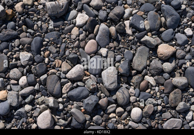 Pebbles from Gray Lake area in Torres del Paine, Chile - Stock Image