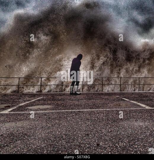 Angry sea - Stock Image