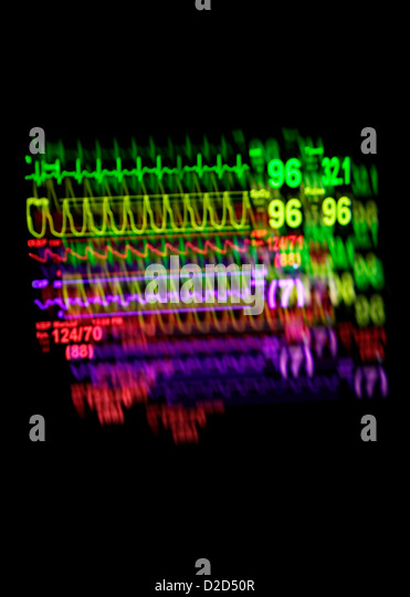 Vital signs monitor - Stock Image