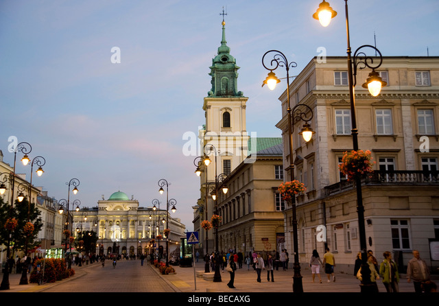 Royal Route, Trakt Krolewski, Warsaw, Poland, Europe - Stock Image