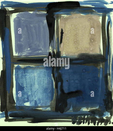 Susan Szikra, abstract expressionism. Shades of blue, Poetic mind, a journey through colors - Stock-Bilder
