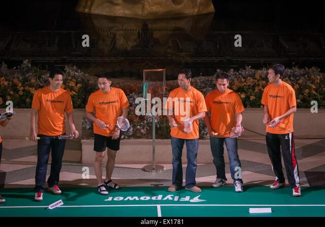Indonesian badminton legends Haryanto Arbi, Ricky Subagja, Sigit Budiarto, Markis Kido and Hendra Setiawan during - Stock Image