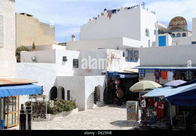 View of the Medina at Hammamet Tunisia - Stock Image