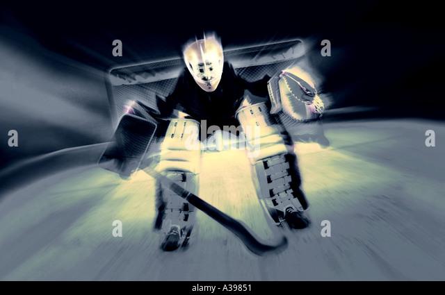 hockey goalkeeper - Stock Image