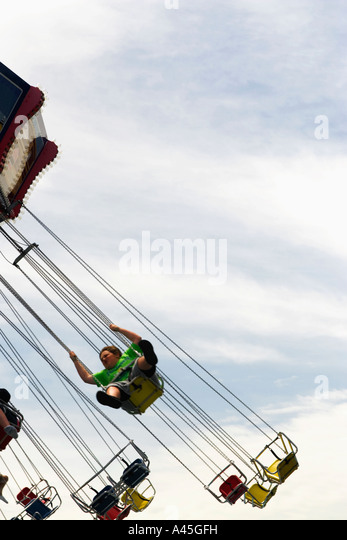 Swings in Motion - Stock Image