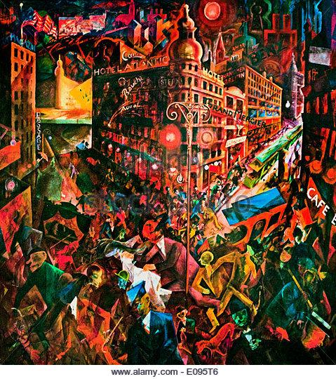 Metropolis 1916-17 George Grosz  1893-1959 German Germany - Stock Image