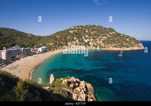 Ibiza beach Cala de Sant Vicent beach - Stock Image