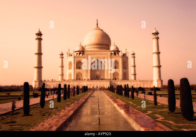 Taj Mahal, Agra, India in sepia tone - Stock Image