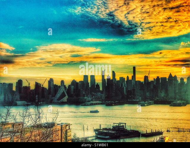 Morning light of New York City - Stock Image