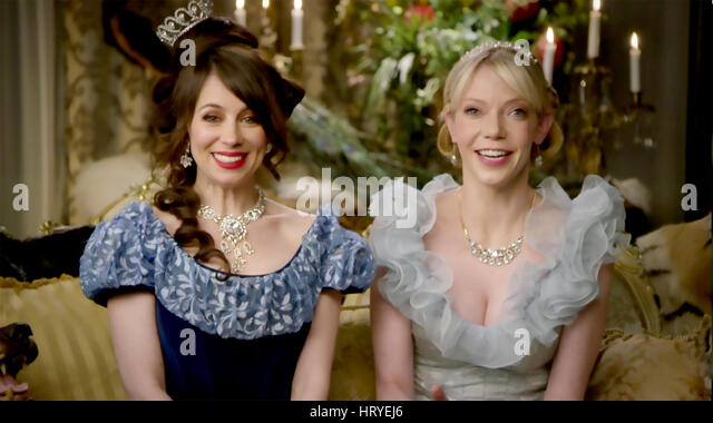 ANOTHER PERIOD Comedy Central TV series with Natasha Leggero at left and Riki Lindhome - Stock Image