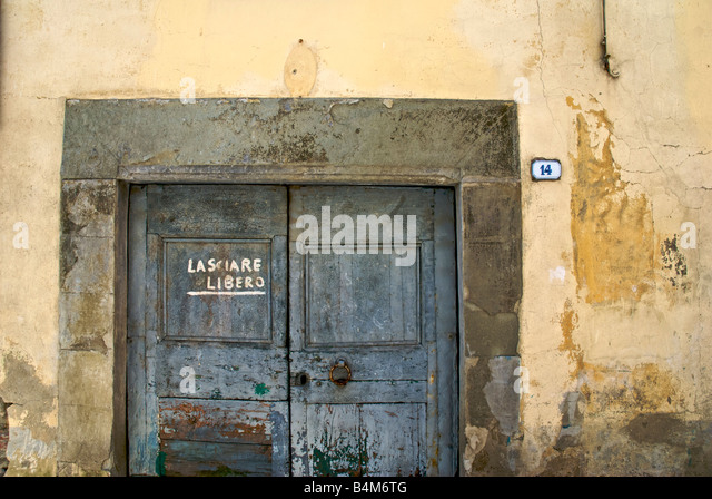 Garage door tuscany italy stock photos garage door Italian garage doors