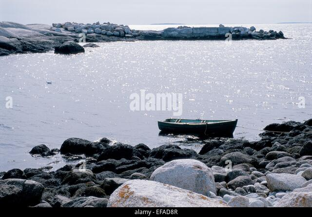 MOVIE SCENE WITH ROWING BOAT THE SHIPPING NEWS (2001) - Stock Image