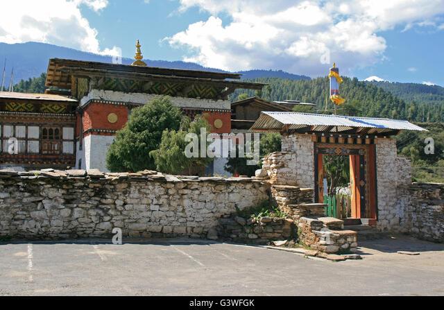 The Jambay Lhakhang in Jakar (Bhutan). - Stock Image