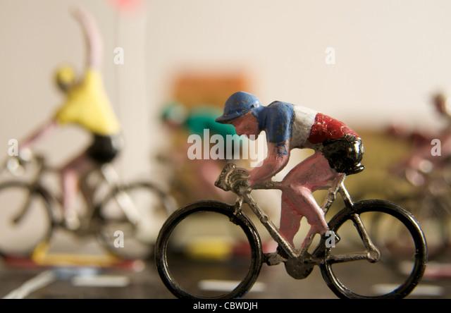 Cyclists, figurines - winner concept - Stock-Bilder