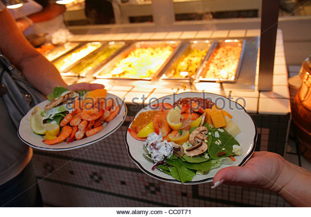 New Orleans Louisiana French Quarter Royal Street The Court of Two Sisters Jazz Brunch Buffet Creole cooking historic - Stock Image
