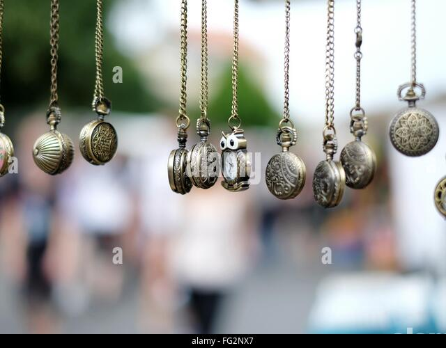 Close-Up Of Jewelry Hanging - Stock Image