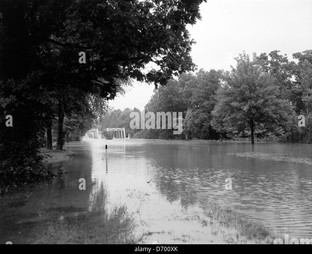North Anna River Overflows Rt.1 - Stock Image