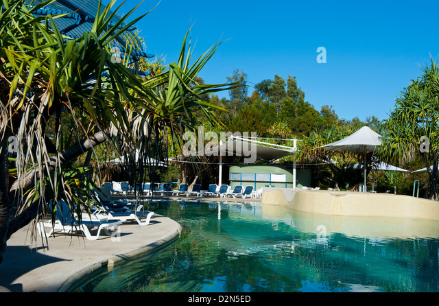 Kingfisher Resort, Fraser Island, UNESCO World Heritage Site, Queensland, Australia, Pacific - Stock Image