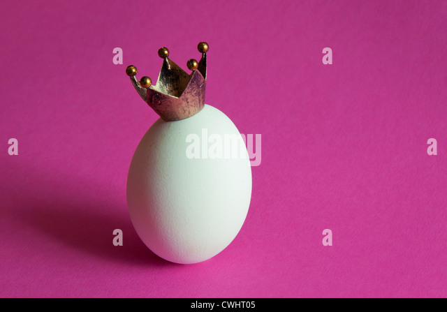 egg,crown - Stock Image