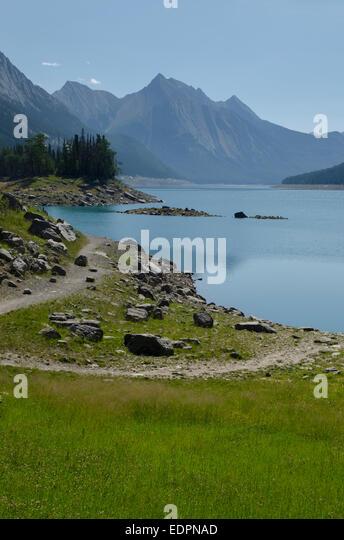 Medicine Lake, Jasper, Canada - Stock Image